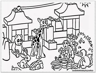 Zoo Coloring Pages Animals Zookeeper Animal Printable