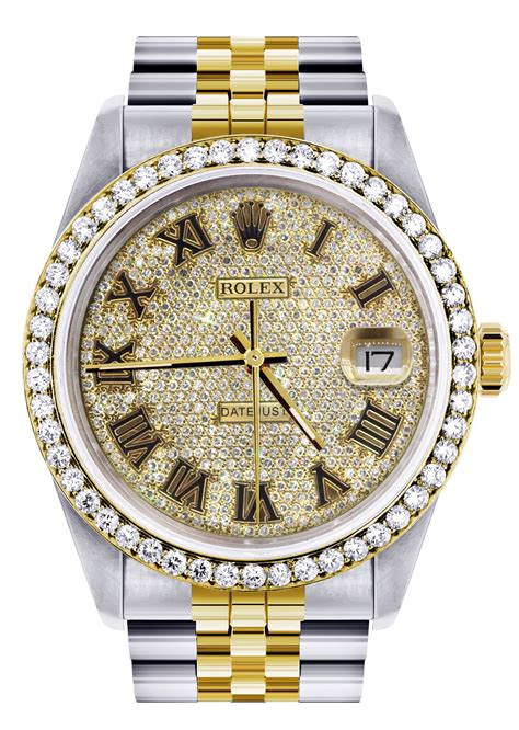 Diamond Gold Rolex Watch For Men 16233 | 36MM | Full ...