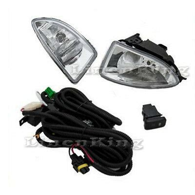 Fog Lights Bumper Lamps Set Clear Switch For