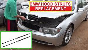 How To Install Replace Hood Lift Support Struts Shocks Bmw