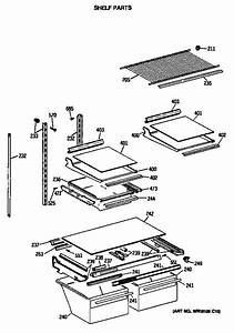 Shelf Parts Diagram  U0026 Parts List For Model Tbx21jissrwh Ge