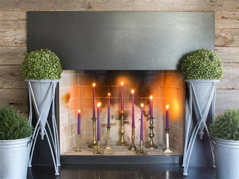 decorate  fireplace   summer hgtvs