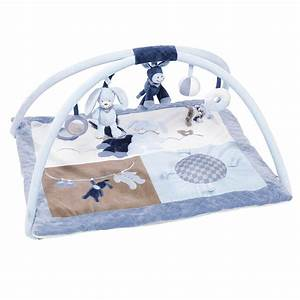 alex bibou tapis d39eveil avec arches bleu de nattou With tapis d éveil bleu