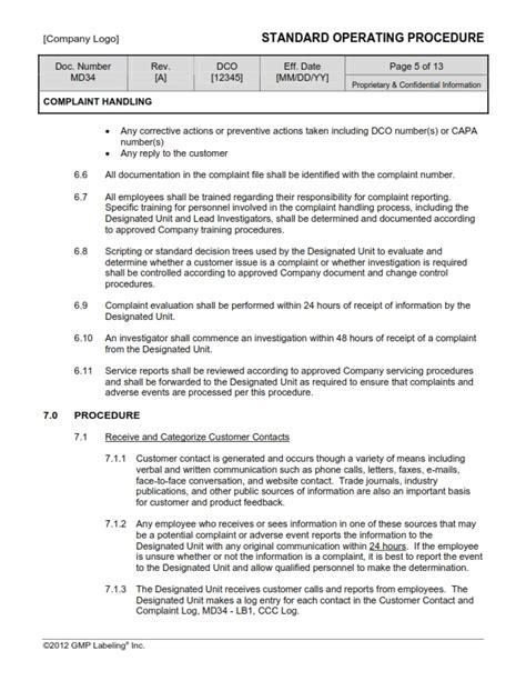 corrective preventive action sop templates group md