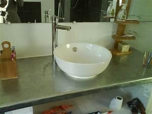 Beton Hydrofuge Pour Salle De Bain : mon chez moi cr ation d 39 un meuble de salle de bains ~ Edinachiropracticcenter.com Idées de Décoration