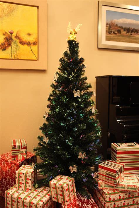 ft pre lit multi color led fiber optic christmas tree