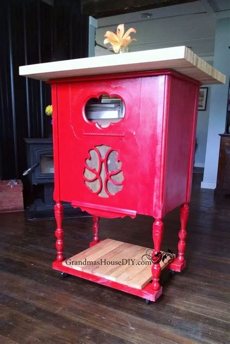 Radio Cabinet to Kitchen Island   DIY Furniture Makeovers
