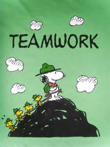 Teamwork Snoopy and Woodstock