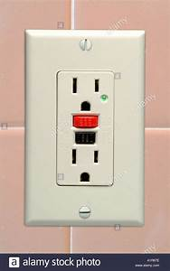 A Ground Fault Circuit Interrupter Or Gfci Outlet Stock