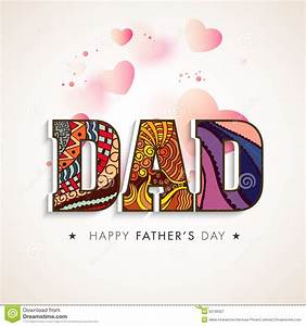 Beautiful Text For Happy Fathers Day Celebration. Royalty ...