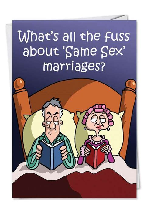 Same Sex Marriage Cartoon Anniversary Card Nobleworkscards Com