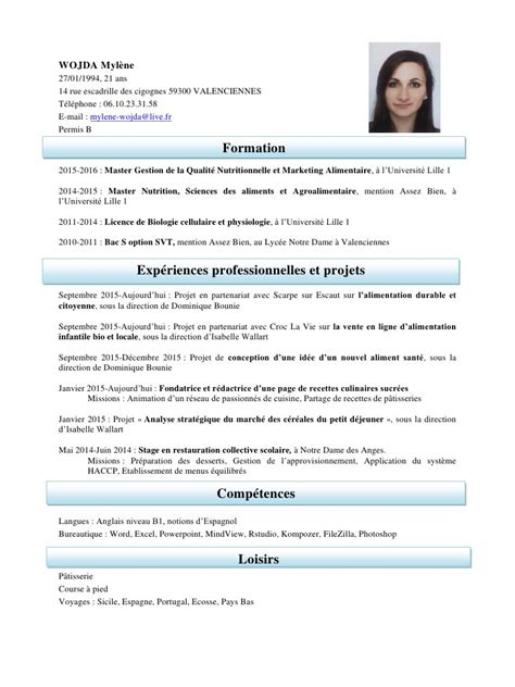 projet d animation cuisine cv mylene wojda pdf par mylene wojda fichier pdf