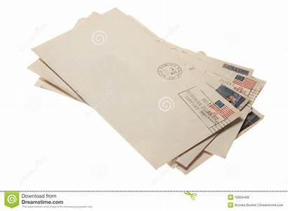 Letters Stack Mail Postmarked Royalty Clipping Dreamstime