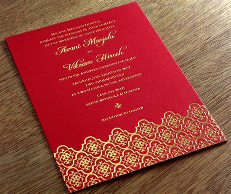 Indian Letterpress Wedding Invitation Gallery Avani
