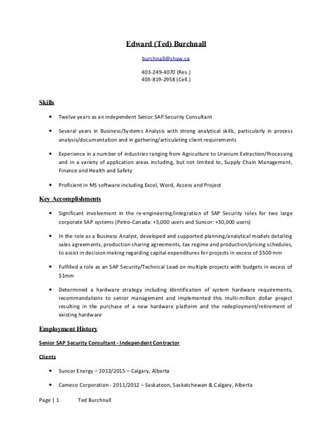 Ted Resume by Ted Burchnall Resume 2015