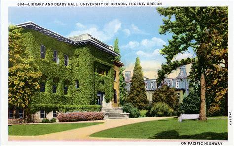 Library Postcards Library, University Of Oregon, Eugene