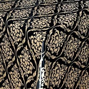 Bettwäsche Schwarz Gold : tischdecke abwaschbar wachstuch barock schwarz gold im wunschma ~ Buech-reservation.com Haus und Dekorationen