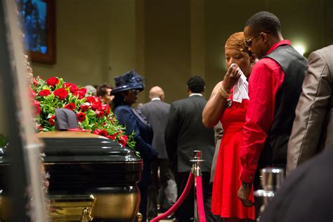 ferguson missouri shooting michael browns funeral draws
