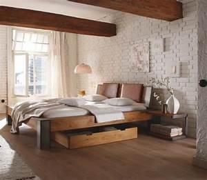 Landhaus Betten Holz : bett 160 cm x 200 cm in holz eichefarben naturfarben bedroom pinterest bett schlafzimmer ~ Markanthonyermac.com Haus und Dekorationen