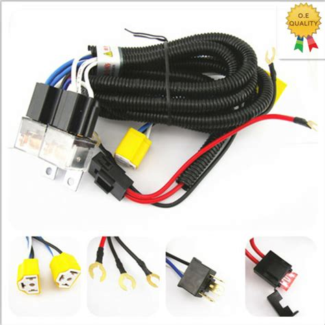 Headlight Head Lamp Relay Socket Plug Wiring Harness