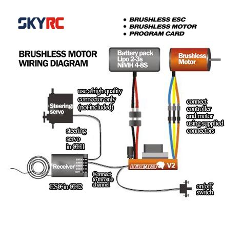 Rc Motor Wiring Diagram by Skyrc 9t 4370kv Brushless Motor 60a Brushless Esc