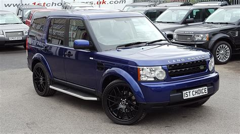 blue land rover discovery used 2010 land rover discovery 4 tdv6 gs bali blue black