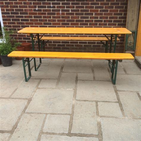 beer garden table and benches german pine beer garden table and bench sets vintage