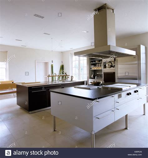 kitchen island extractor hoods modern kitchen with island and large extractor fan stock