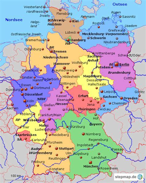 politische landkarte deutschland  blog