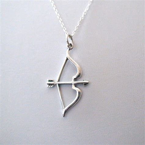 Sterling Silver Bow and Arrow Necklace