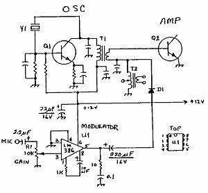 low power radio three simple am transmitter plans for With am transmitter