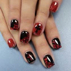 Red and black nails design stylish nail designs
