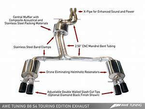 Awe Tuning Audi B8 S4 Touring Edition Exhaust And Downpipe