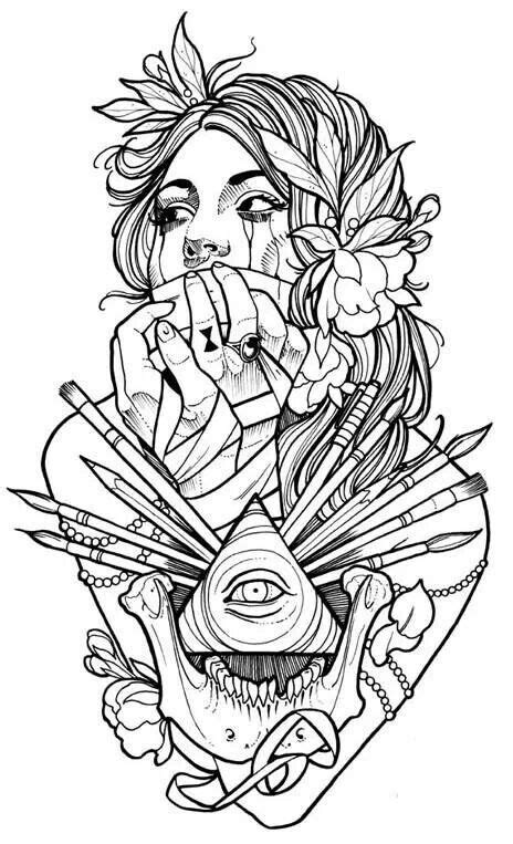 To color | Tattoo coloring book, Tattoo designs, Tattoo sketches