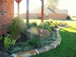 Oklahoma Chopped Stone Border Garden
