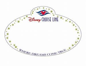 8 best images of disney cruise templates printables With door name tag template