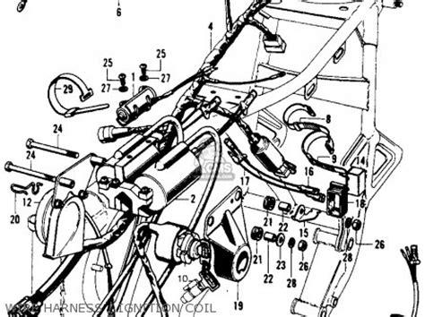 1974 Honda Cb450 Wiring Diagram by Honda Cb450k7 1974 Usa Parts Lists And Schematics