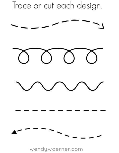 free printable cut amp trace preschool worksheet following 519 | cuttrace practice sheet printable