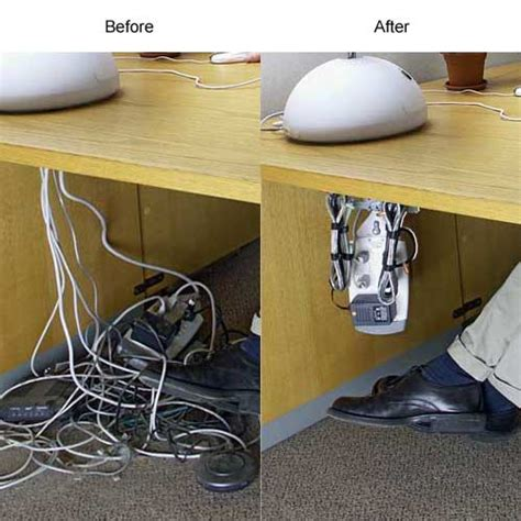 cable holder under desk cable safe professional installer kit