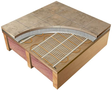 thermotile electric radiant floor tile heating system tt6 24