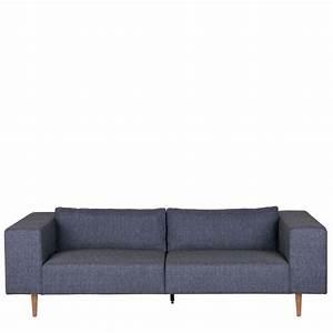 canape 3 places tissu et pieds en bois bjork by drawer With tapis shaggy avec canapé en tissu 2 places