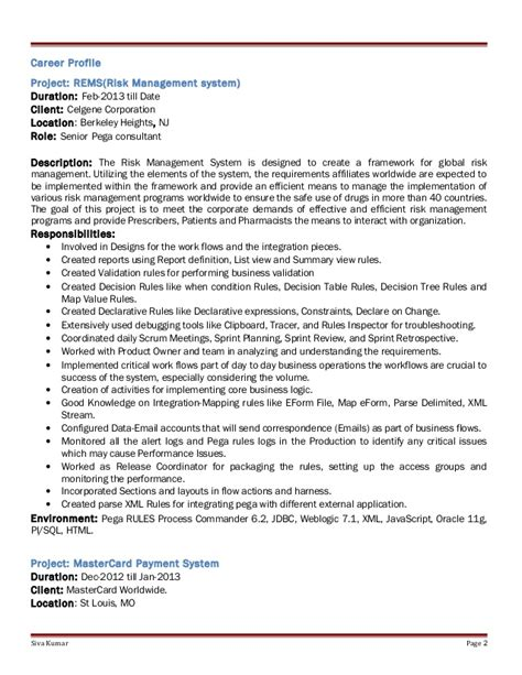 Pega Lead Business Architect Resume by Pega Architect Resume 57 Images Cornell Sle Resume Leadership Qualities Resume Exles A