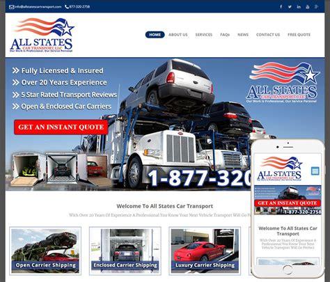 auto transport website design ww web design studios