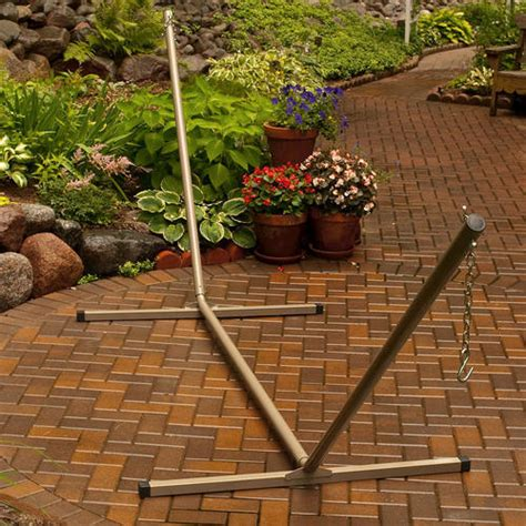 backyard creations large 2 point hammock stand at menards 174