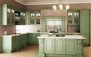 vintage estilo retro clasico en la cocina With kitchen cabinets lowes with pink and green wall art