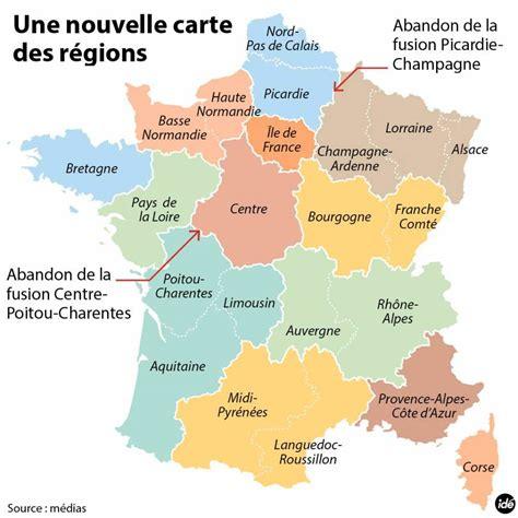 Nouvelle Carte De Par Region by R 233 Forme Territoriale Nouvelle Carte De Des