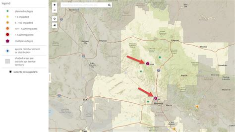 power   aps outage map lights