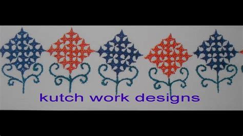 kutch work designs youtube