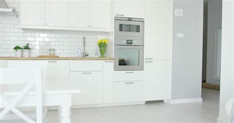 cartoon modern colorful home kitchen animation  space