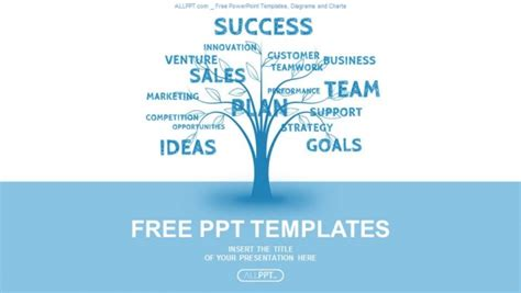 word powerpoint online concept blue word tree leadership marketing or business